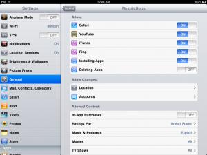 iPad Restrictions