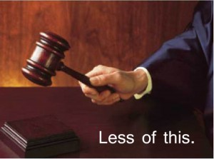 less judging