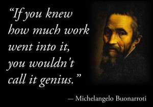 genius vs work