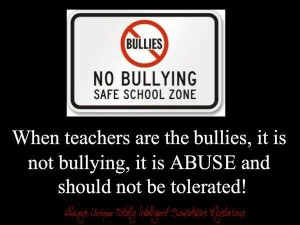 bully teacher
