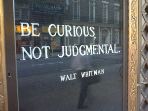 be curious not judgemental