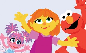 Julia is a new character on the children's show Photo: Sesame Street